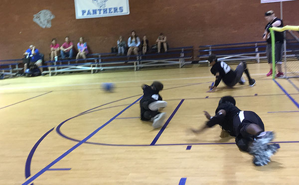 ASB's Goalball team competing at Georgia School for the Blind