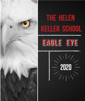 "Cover of yearbook, titled ""The Helen Keller School EAGLE EYE"""