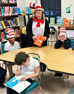 Ms. Beverly Brown reading Dr. Seuss