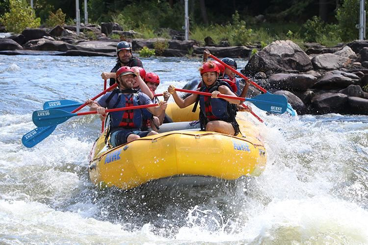 Photo of ASB students on a white-water rafting trip