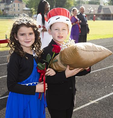 Young ASD students participate in homecoming activities