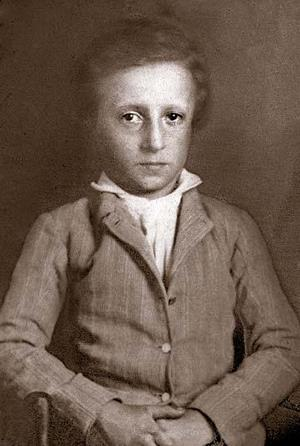 William Seaborn Johnson as a young child