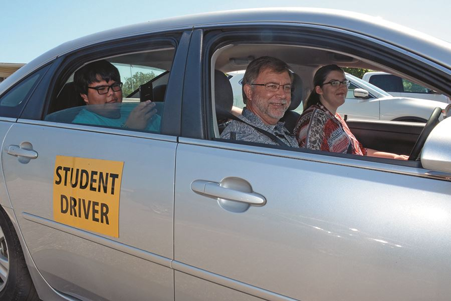 Two EHG clients receive driver's education instruction