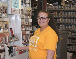 EHG graduate Ja'Kell Stone at work at Ace Hardware